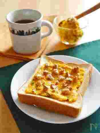 食べ応えもあり食感も風味もおいしいスイーツ系のトーストはつい食べすぎに注意かも。