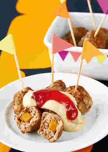 冷めても美味しく、積みやすいミートボールはおもてなし料理にもぴったりです。ピックを刺してピンチョス風に盛り付けても素敵。勿論、お弁当や差し入れメニューにもいいですね。皆でわいわい食べるのも楽しそう!