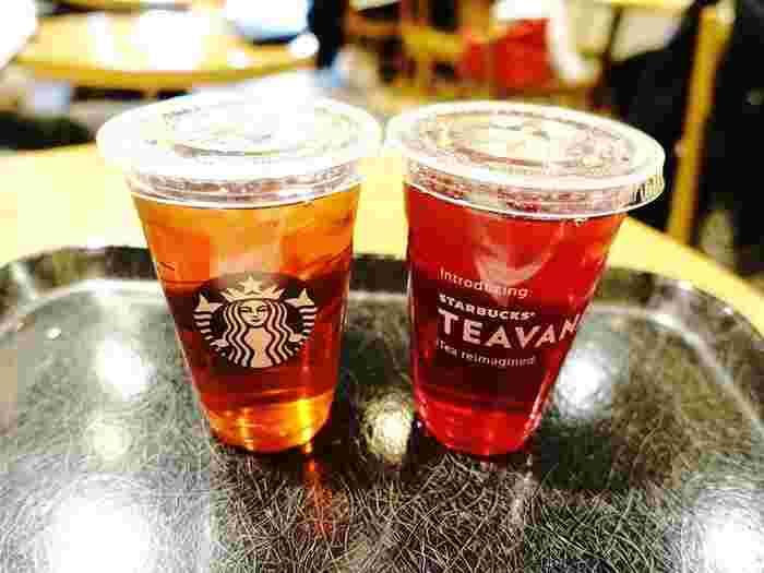 コーヒー以外にも、紅茶やほうじ茶などの「ティー」やココアなども販売しています。季節限定で、リンゴやマロンのドリンクを販売していることも。だけど、これらもフラペチーノとして注文できたりするんです。スタバって、とっても奥が深いですね♪