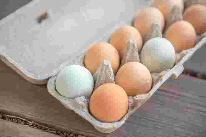 卵黄のみを使うレシピもありますが、全卵でつくったほうが栄養価は高くなります。ただし白身を切らずに作ってしまうとドロドロになってしまうので注意が必要です。