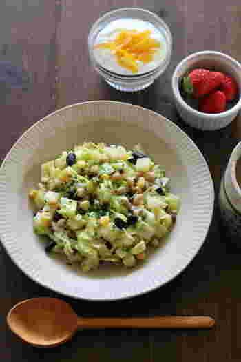 味付けは粉末のコーンポタージュスープの素だけという簡単なレシピです。たくさん作って残りを次の日の朝食用にしてもいいですね。