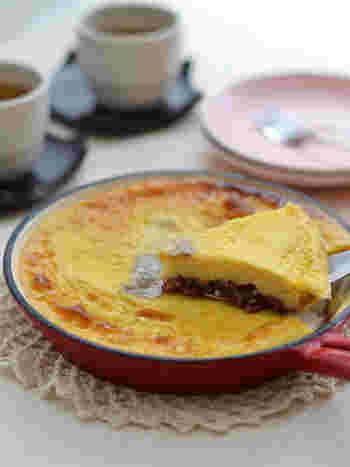 フランスにあるリムーザン地方の伝統菓子「クラフティ」をお手軽に作れるレシピがこちら。牛乳とマッシュポテトで仕上げる優しい味はお子様にも喜ばれそう。