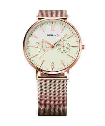 繊細で美しく、それでいてシンプルなのでいつまでも飽きることなく、長年愛用できる腕時計。プレゼントにもおすすめですよ。