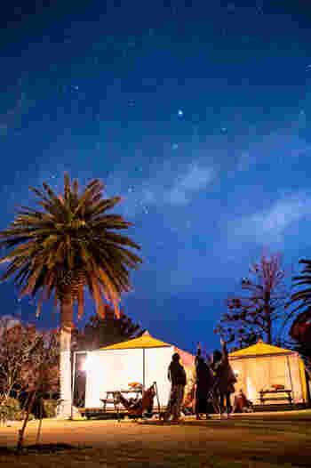 二重構造の天幕には冷暖房が完備してあるので、夏でも冬でも快適。 ご飯は部屋まで運んでくれるサービスもあるんですよ。  夜は満点の星空を堪能できます。