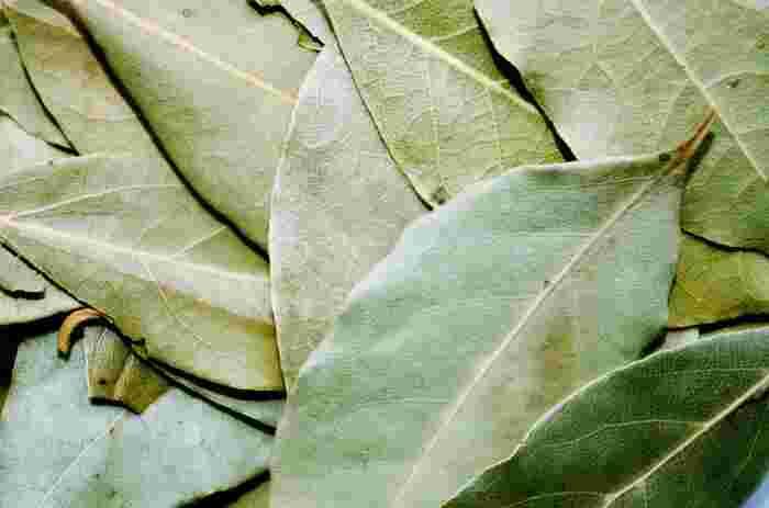 マリネやピクルスにも使われているローリエ(月桂樹)。かつお節などを浸す際に1~2枚一緒に入れておくと、ローリエの香りがプラスされたひと味違うポン酢になります♪