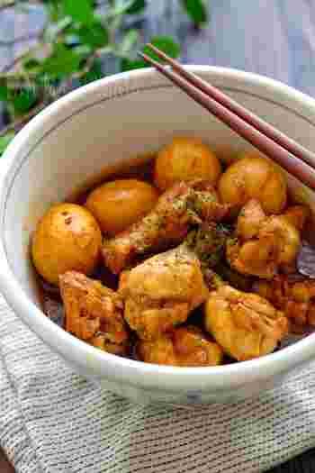 和食の献立に取り入れたいなら、ゆで卵と一緒にカレー煮にするのはいかがでしょう?スパイスの香りが食欲をそそり、ご飯が進むおかずになりますよ。