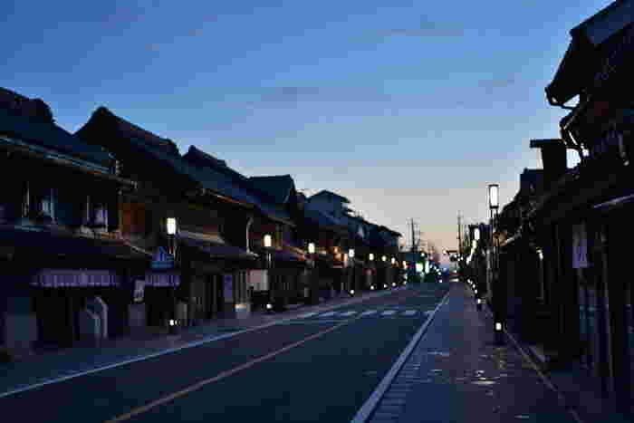 江戸時代の街並みを残した風景。ちょっとした気分転換になりそうです。
