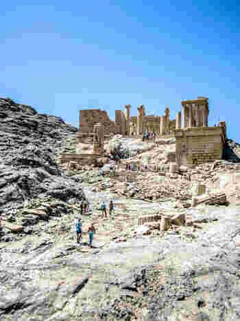 それぞれの建築物は1/25の縮尺で精巧に作られています。こちらのパルテノン神殿は、本物の大理石の粉末を素材に混入しているそう。
