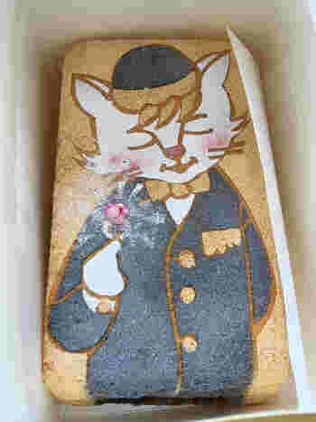 月替わりのデコ―レーションバージョンも人気です。キュートなネコがかわいらしく、食べるのがもったいないほど。