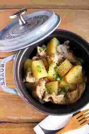 ホックホクのじゃがいもと豚肉を使ったおかずです。存在感も抜群で、お弁当のメインとしても使えそうです。