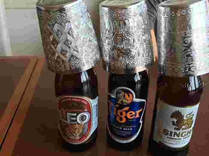 ドリンクメニューも豊富で、なかなか見かけない種類のビールがたくさん。夏の暑い日には、さっぱりしたタイビールで乾杯しましょう。
