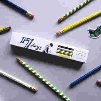 台湾のおしゃれ文房具屋さんTOOLS to LIVEBYとイラストレーターのヴィタ・ヤンさんとのコラボ鉛筆です。デザインのテーマは「7日間、7人の男の子」。ボーイッシュな可愛らしさですね。