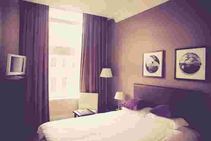リラックス空間である寝室は、主張しすぎない穏やかなカラーが好相性。