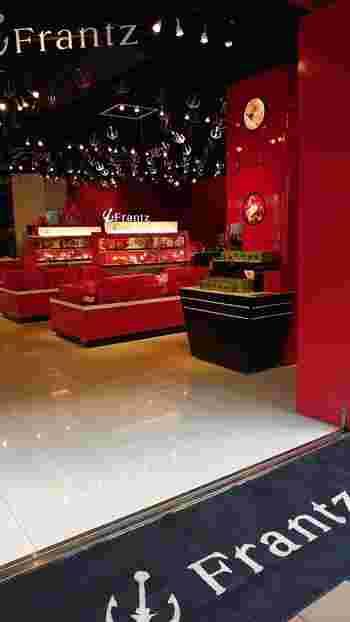 ハーバーランドにある「神戸フランツ umieモザイク店」。港町・神戸らしい錨(いかり)がロゴマークです。この他、六甲店・三宮店・北野店・異人館店・新神戸店・南京町店・新大阪店があります。