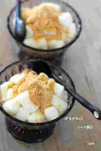 タピオカ粉で作るったミルク餅は、冷蔵庫で保存して後で食べてももちもち感が長持ちします。なので、手土産などにすることも可能!独特な香りなども無いので、純粋なミルク風味が味わえますよ!