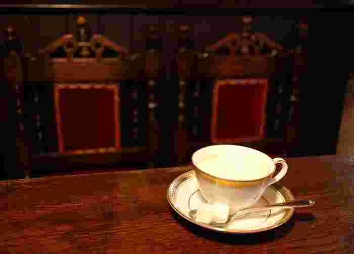 喫茶 築地の定番のウィンナー珈琲。