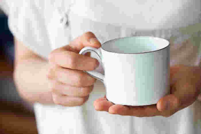 陶器なのに琺瑯のような質感が特徴。実際に自宅で愛用しているのだそう