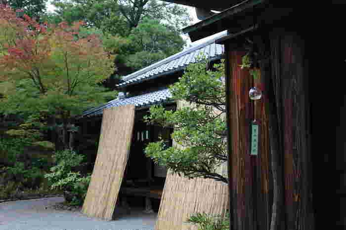 """ちなみに、サンシェードの基本は上から吊るし、下方で固定するというものです。こうして立てかけるものは日本でいう""""よしず""""。海外ではバンブーカーテンとも呼ばれています。"""