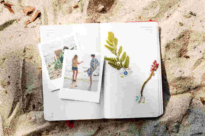 写真はずっとデータのままなんて、もったいない!旅ノート」を後で見返したときに、思い出の写真が貼ってあるとやはり楽しいものです。