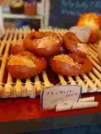 シンプルなパンの他に、可愛らしい見た目のプレッツェルも◎味もとっても美味しく、ボリュームもあるので小腹が空いたときにパクパクと食べられそう!