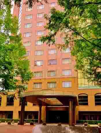 リソルの森では宿泊も可能です。こちらは高級感あるリゾートホテル「トリニティ書斎」。これ以外にもテラスハウスや木の温もりあるログハウス、さらにおしゃれなグランピング施設までアクティビティ感覚で泊まることができるんです。