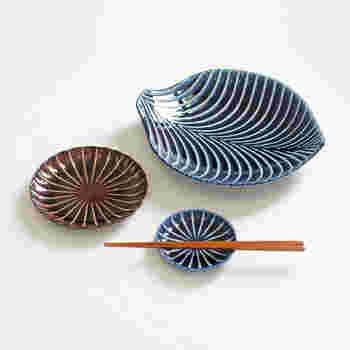 茄子紺ブルー、漆ブラウン、利休グリーンの3色があります。食卓を和モダンに演出してくれそうです。