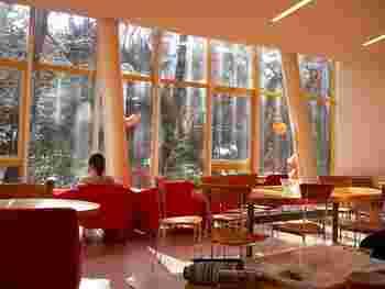 明治神宮と代々木公園に隣接するオリンピックセンター2階に位置し、全面ガラス張りとなっており柔らかな日差しと桜を満喫しながら過ごせます。