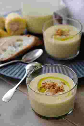 同じトウモロコシのポタージュですが、こちらは豆乳を使用。濃厚で、生のトウモロコシの甘さを存分に楽しめます。