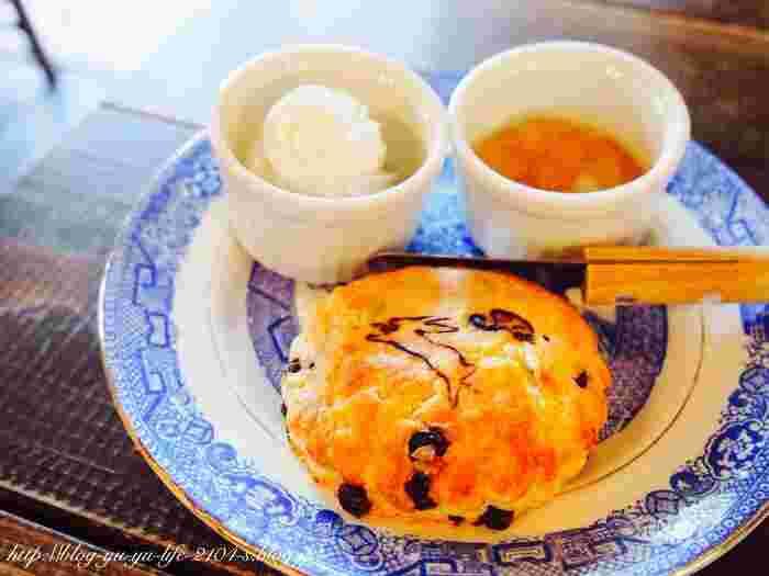 紅茶といえばスコーン。ザクっとした食感で食べごたえがあり、紅茶との相性も抜群。アフタヌーンティー気分に酔いしれることができますよ。