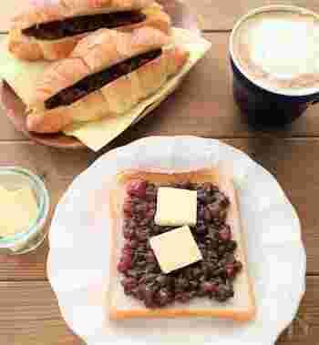 あずきの甘さにバターの塩味が絶妙なコンビネーション。コーヒーによく合う味でクセになるおいしさです。