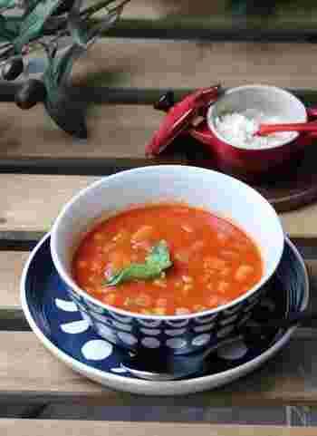 栄養たっぷり、美肌にも良いミネストローネもマルチクッカーで簡単に調理しちゃいましょう。ひよこ豆を入れて、満腹感もUP!ヘルシーなダイエット食にもオススメです。