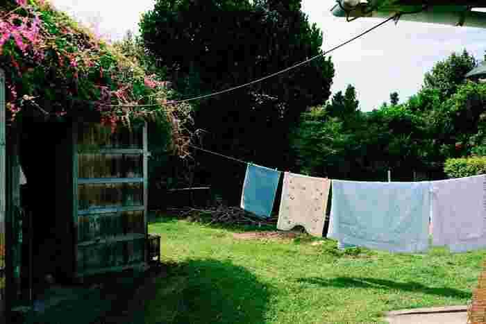 乾くのが早いから、シーツやタオルケットは晴れの日がチャンスです◎