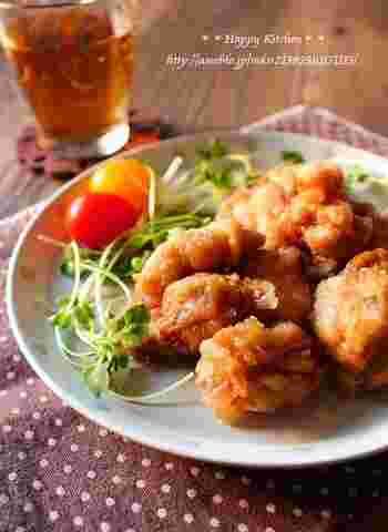 朝から揚げ物をする時間や手間を省く、レンジで作るから揚げレシピ。時短でおいしいお弁当のおかずが完成します。