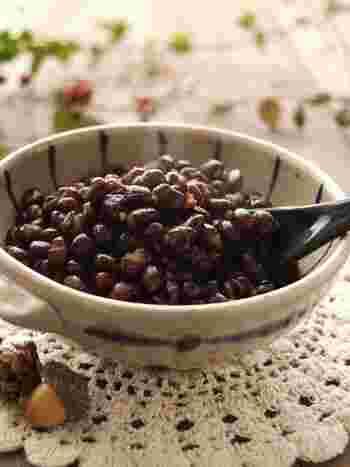 こちらは、じっくりと手間暇かけて作る粒あんレシピ。自分好みの甘さや固さに調整できるのがいいところ。