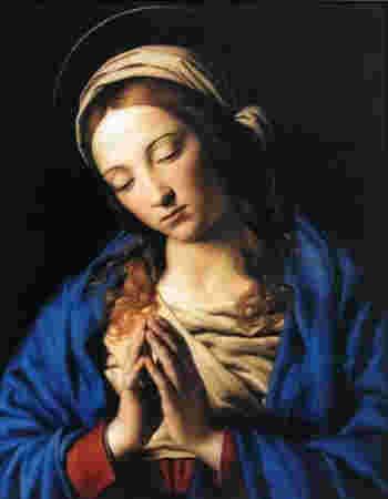 1830年7月18日、11月27日にフランスパリのカトリック修道女カタリナ・ラブレは聖母マリアの出現を目撃しました。目撃した時の聖母の姿は「聖母は地球の半分の上に立っておられ、その御足は、緑色に黄色の斑点を持つへびを踏みつけられておりました。先ず御目を天に向けられ、そして地に向けられました。 私は、各々の指に三つづつ指輪がはめられているのを見ました。きらきら光る宝石で作られたそれぞれの指輪は、四方に輝き渡り、その光は御足元にまであふれ、聖母の御足も見えませんでした」と語られています。 また「この時聖母のまわりに楕円形のわくが出来その中には、金文字で『原罪なくしてやどり給いし聖母マリア、御身に依り頼み奉る我等の為に祈り給え(Ô Marie, conçue sans péché, priez pour nous qui avons recours à vous.)』と、記されていました」とも伝えられ聖母マリアの姿とお告げは「メダイユ 」のデザインに使われています