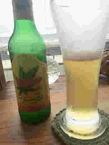 ヘンプをつかったビール。オーガニックにもこだわる体にやさしいレストランです。