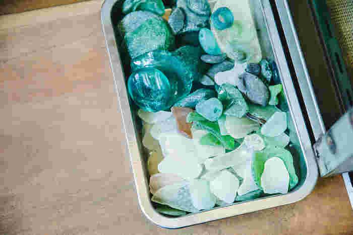 海でみつけたお気に入りのガラス片