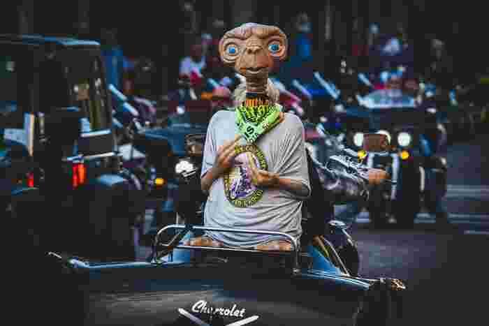 地球探査に訪れ、置き去りにされてしまったE.T.は、10歳の少年エリオット兄妹と知り合いに。しかし、そこにNASAの追跡の手が及んでいき…。