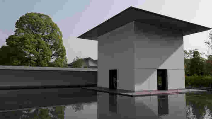 谷口氏の、素晴らしい設計が作り出した「思索空間(Contemplative Space)」。 水鏡の庭に浮いているように佇んでいます。