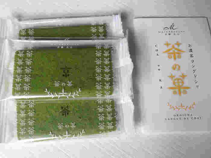比較的、最近のお菓子のイメージですが、「茶の菓」を販売する「マールブランシュ」は、1982年にオープンした京都・北山の洋菓子店。古くから、素材と製法にこだわりをもつ歴史あるお店です。