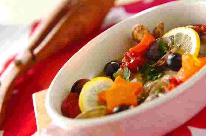 アクアパッツァも切り身を使えばとっても簡単!お野菜もたっぷり入って栄養満点♪