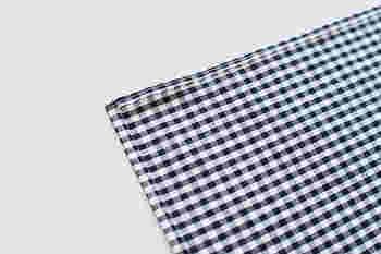 ■STEP2 縁を5mm幅に2回折り込んで縫っておきます。
