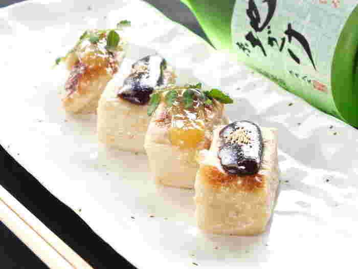京都ならではの生麩を使った田楽味噌焼き。京都に来たら一度は食べてみたい味を川床で贅沢にいただいてみるのはいかがでしょうか。