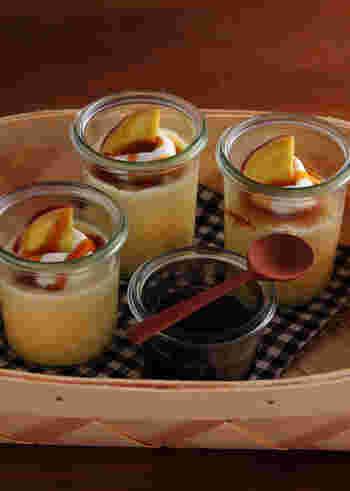 いつものプリンに豆乳を使う方法もありますよ。豆乳でヘルシーにアレンジされた秋にぴったりのスイーツレシピです♪