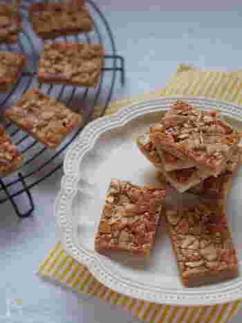 クッキー生地の部分を冷凍パイシートで作るお手軽レシピ。お菓子作り初心者の方も手軽に作ることができるはず♪