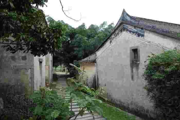 観瀾(かんらん)版画村は深圳の十大客家古村落の一つ。客家とは、漢民族の一つで清の時代から独自の文化を守ってきた民族です。白い壁と黒い瓦の組み合わせが美しい建物が並び、その多くが版画制作のスタジオとして利用されています。村の古い道や横丁は主に石板で敷かれていて、風情たっぷり。2008年5月から観光客に開放され、現在は無料で観光できます。