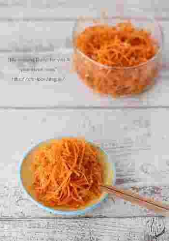 10分以内でできる簡単な副菜です。ご飯に混ぜて幼児食のおにぎりにも。