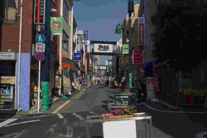 下町の「戸越銀座」の魅力のひとつに商店街があります。東京一長い商店街として有名になり、週末になると地元のひと以外に観光客も多く訪れ大変賑わいます。1.3キロの距離に約400店舗ほどがあり、食べ歩きにも楽しい町です。