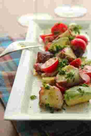 アンチョビは海の食材に使っても相性バツグン!余計な調味料は不要。アンチョビがそれぞれの素材の旨味を引き出してくれる一品です。