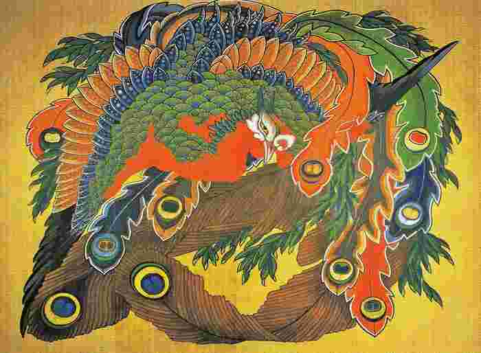 岩松(がんしょう)院の天井画『大鳳凰図』。葛飾北斎最晩年(89歳)の大作です。 千曲川の水運の要所として富を築いた豪商たちは、江戸から葛飾北斎や小林一茶らを招いて厚遇、当時の小布施は、北信州の文化をけん引するまちとして知られました。一茶の句『拾われぬ 栗の見事よ大きさよ』『やせがえる 負けるな一茶これにあり』は、小布施がモチーフです♪